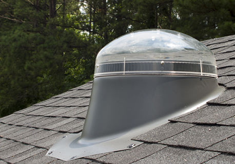 Outdoor dome on top of new roof